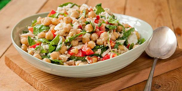 Prato do dia : Salada de grão